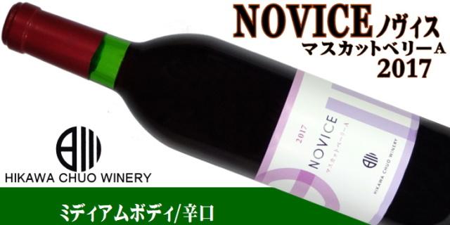 日川中央葡萄酒 リエゾンワイン novice ノヴィス マスカットベーリーa 2017